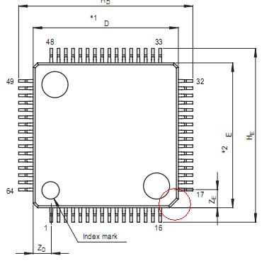 ルネサスR8C64Pinピン配置