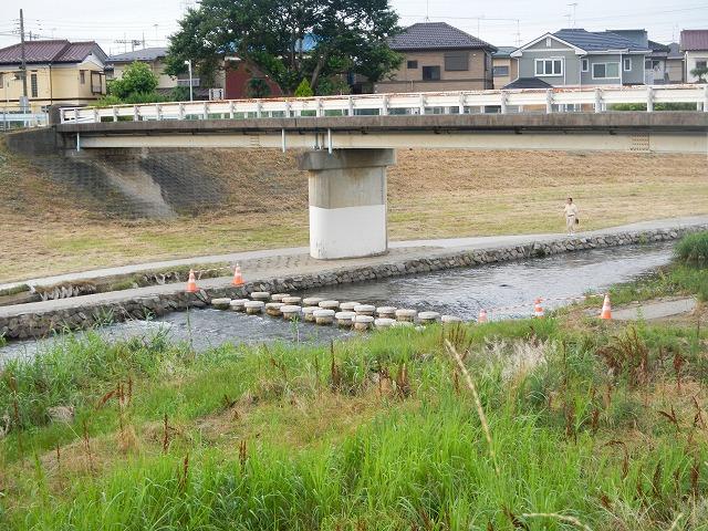 新しい飛び石の橋
