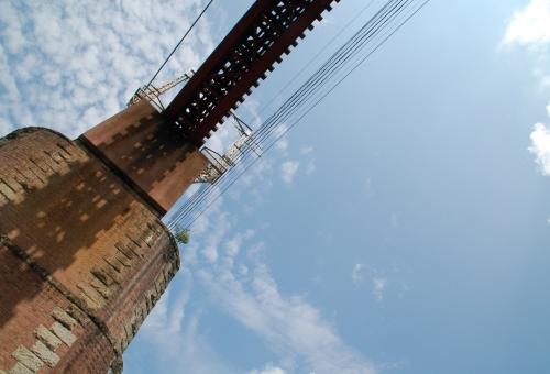長瀞_ライン下り 鉄橋の下