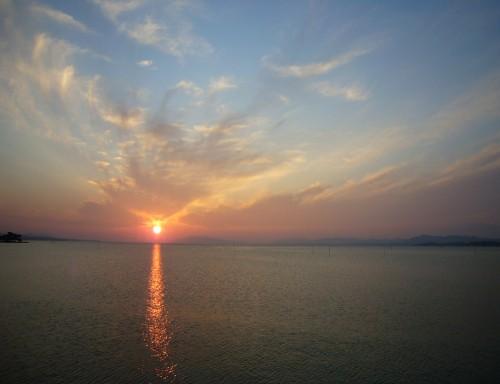 宍道湖の夕日_2007年春