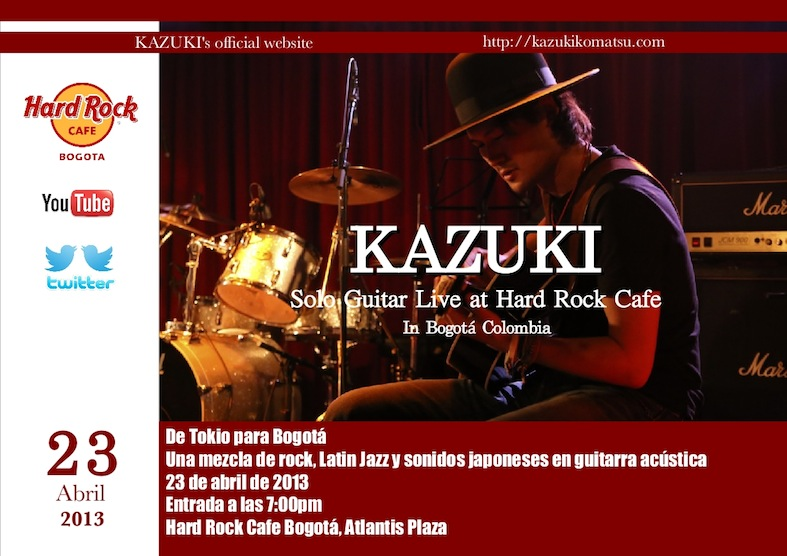 KAZUKI Live in Hard Rock Cafe in Colombia small