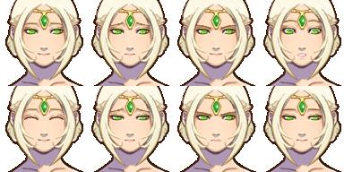エルフの姫(人間・顔グラ)-1