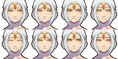 エルフの姫(人間・顔グラ)-2