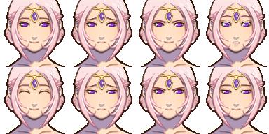 エルフの姫(人間・顔グラ)-3