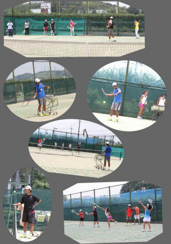 0723_登山テニススクール・レッスン風景