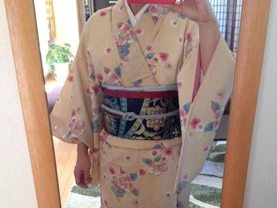 昭和テイスト バラの着物