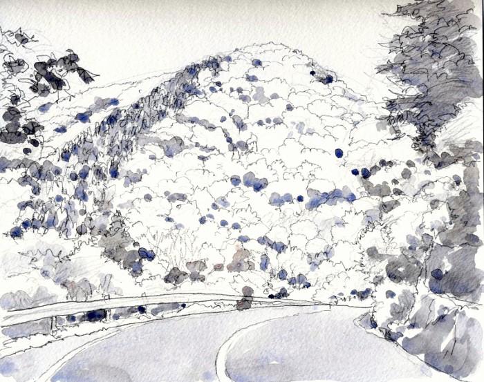 亀岡への道 グリサイユ (700x553)