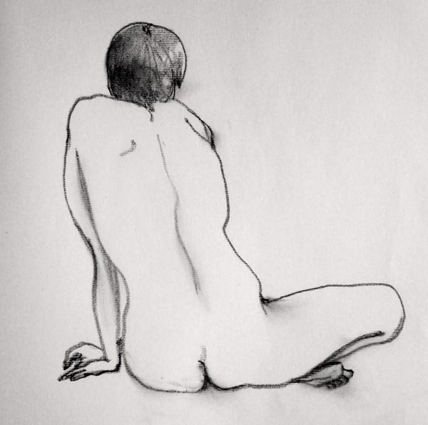 裸婦クロッキー1 (600x595)