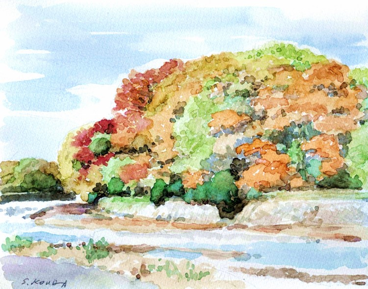 秋の風景 京北にて (750x590)