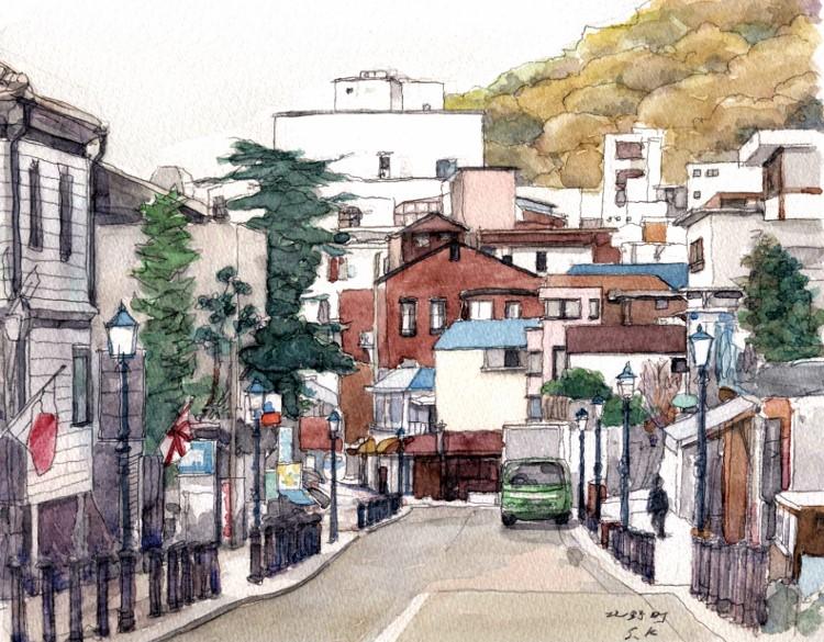 神戸北野町 山手の風景