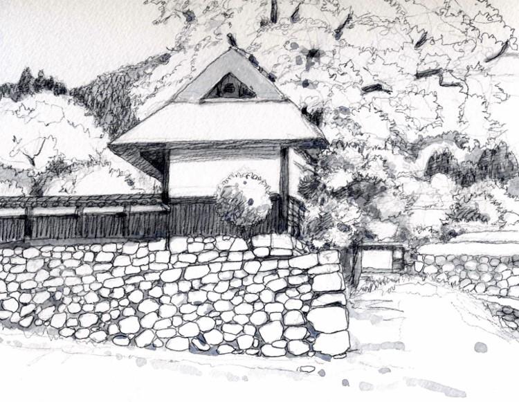 京北の民家 グリ (750x581)