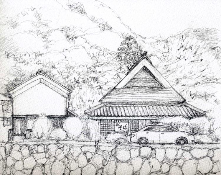愛宕山西方出雲にて デッサン (750x593)