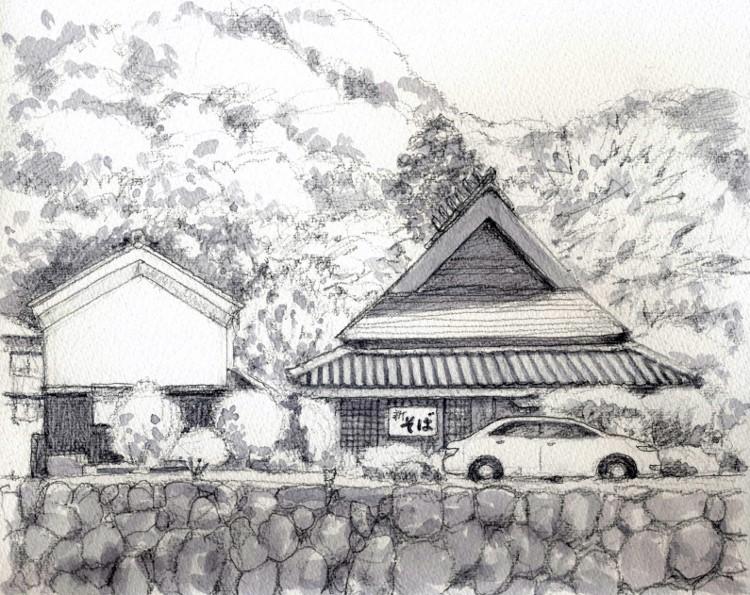 愛宕山西方出雲にて グリザイユ (750x595)