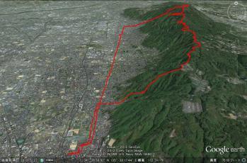 20121214生駒縦走