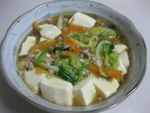 野菜マーボー