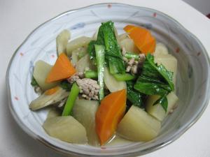 根菜の田舎風煮