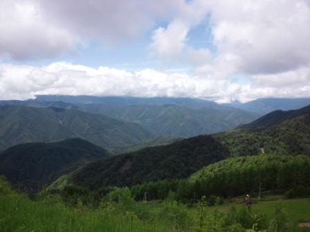 野麦、絶景ポイントからの風景