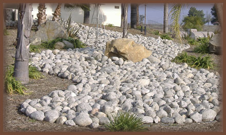 River Rock Garden Ideas Photograph River Rock Landscaping