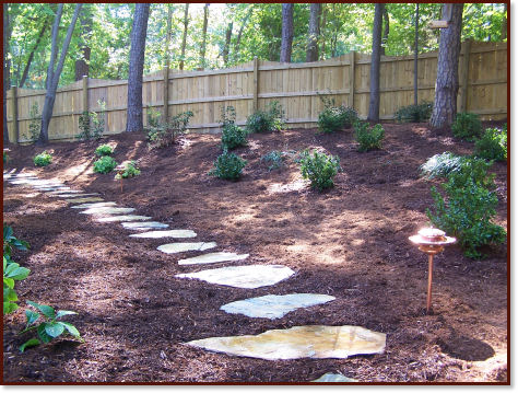 Landscaping ideas with stepping stones pdf for Rock stepping stones landscaping