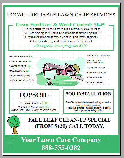 Landscaping Flyer Design Tips For Every Door Direct Mail Udawimowul - Direct mail flyer template