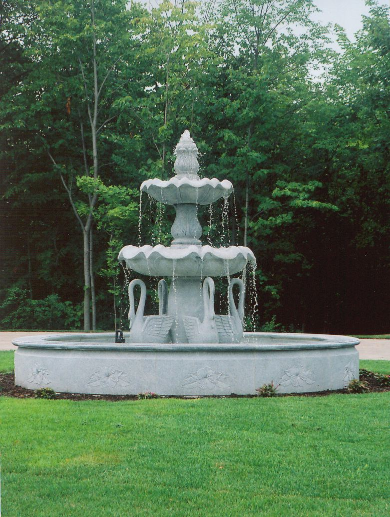 Landscape Garden Fountain : Composition of landscape fountains udawimowul