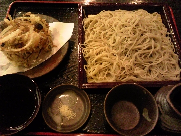 大盛り蕎麦(かきあげ付き)