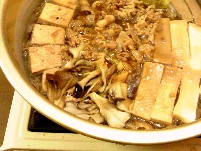 舞茸肉豆腐