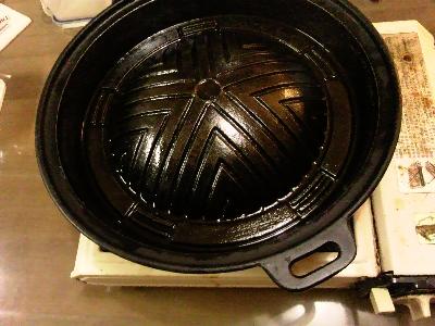 発掘された鍋(使用前)