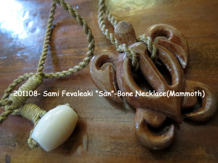 "201108- Sami Fevaleaki ""San""-Bone Necklace(Mammoth)"