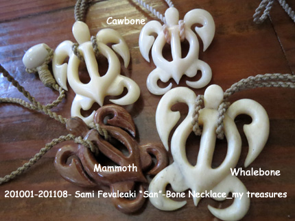"201001-201108- Sami Fevaleaki ""San""-Bone Necklace_my treasures"