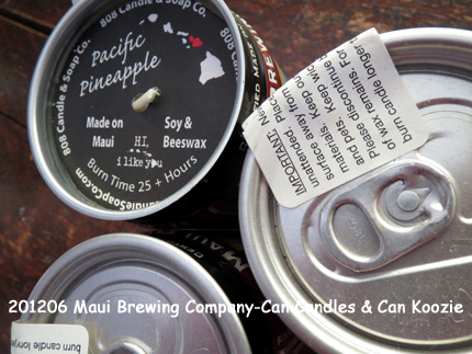2012年6月 Maui Brewing Company-Can Candles & Can Koozie