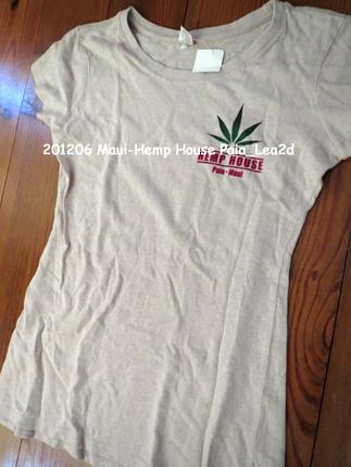 2012年6月 Maui-Hemp House Paia T-shirt