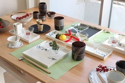 お正月テーブル1