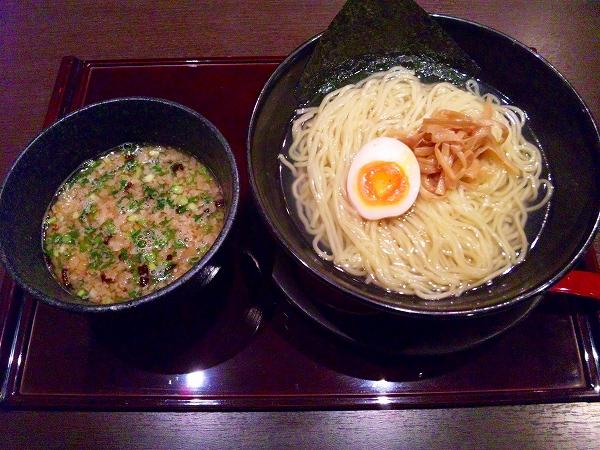 甘藍屋 つけ麺(あつもり) 750円 +石焼ぞうすい 200円