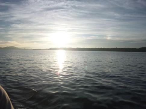 久しぶりの浜名湖の朝日