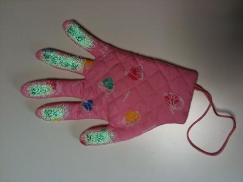 キルトの手形