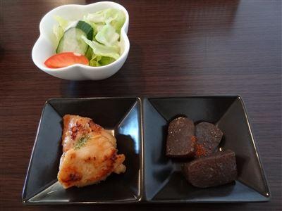 日替わりランtの前菜とサラダ