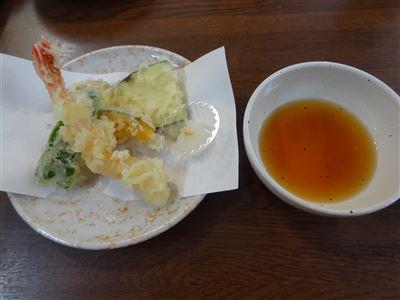 にぎり寿司ランチの天ぷら