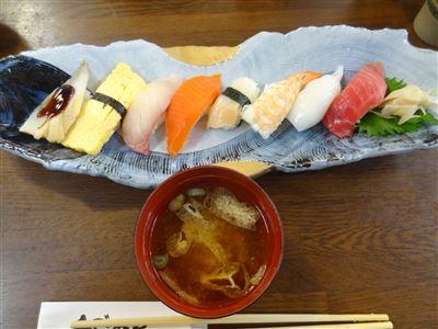 にぎり寿司ランチのメイン