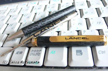 単色のノック式ボールペン