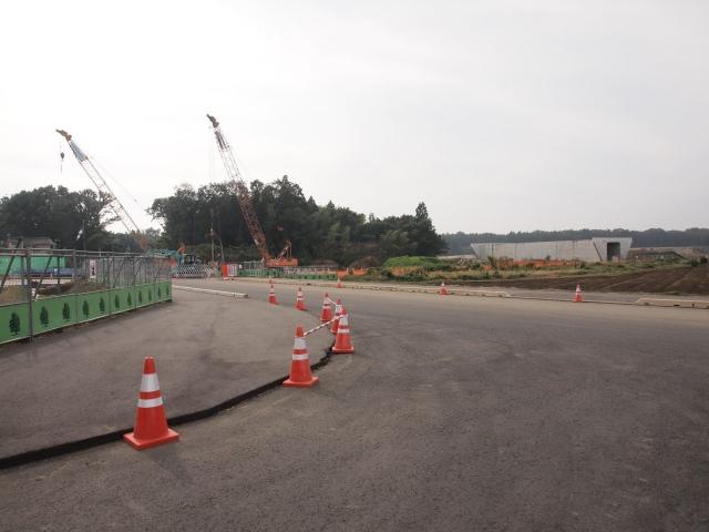 猿島岩井インターへのアクセス道路。
