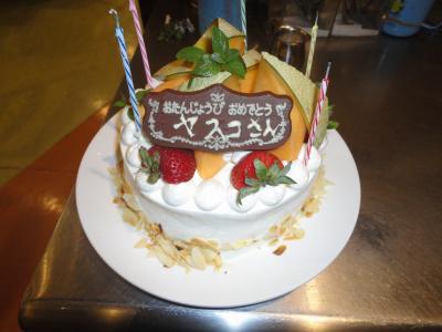 青谷社長ケーキ