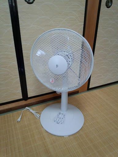 ⑩当店からのエアコンご購入記念品の扇風機です
