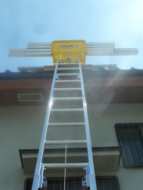 10パネルボーイで縦ラックを屋根まで上げます