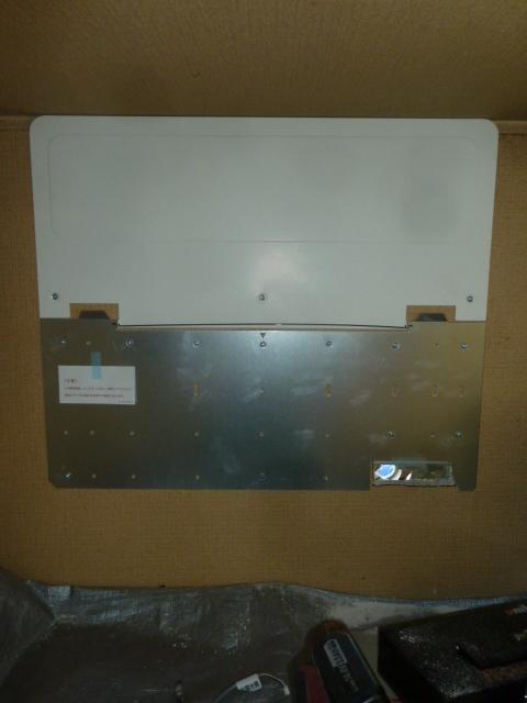28パワコン設置板の固定完了