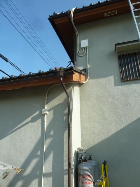 26各配線配管工事(アレイ・接続箱・アース・パワコン)