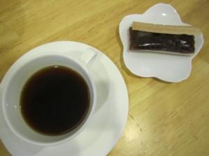 コーヒーと最中