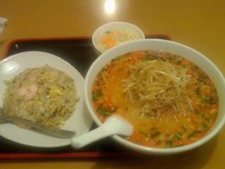 広州(担々麺+チャーハン(中))