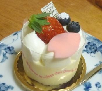 久しぶりのケーキ