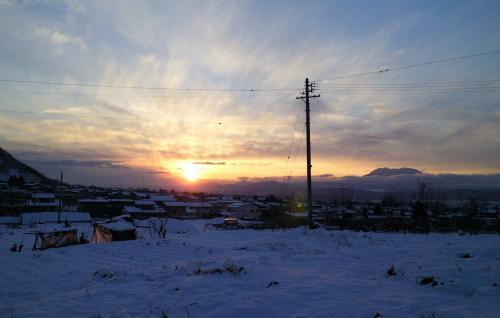 うちから見た夕日(25.12.23)